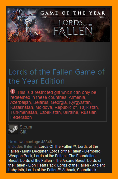 Lords Of The Fallen GOTY (Steam Gift / RU CIS)