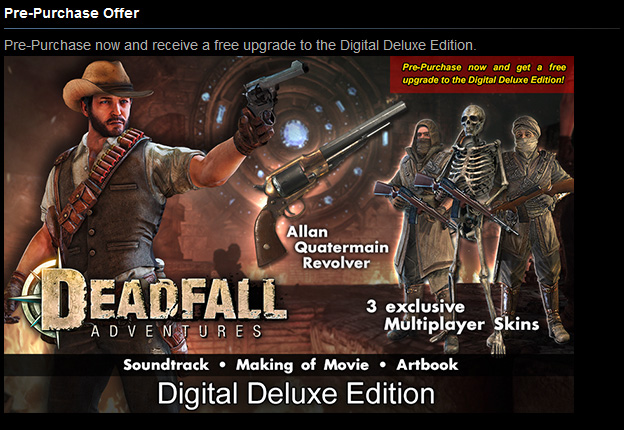 Deadfall Adventures Digital Deluxe (Steam Gift / ROW)