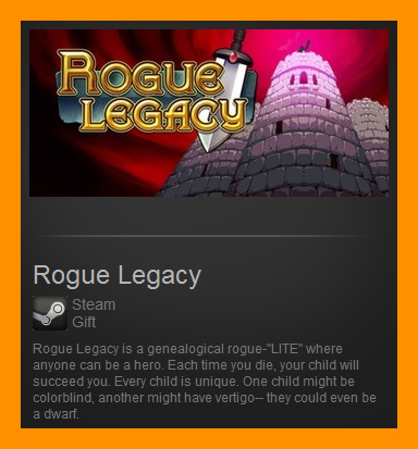 Rogue Legacy (Steam Gift / Region Free) + Gift