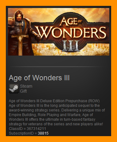 Age of Wonders III Deluxe Pre-Order (Steam Gift / ROW)