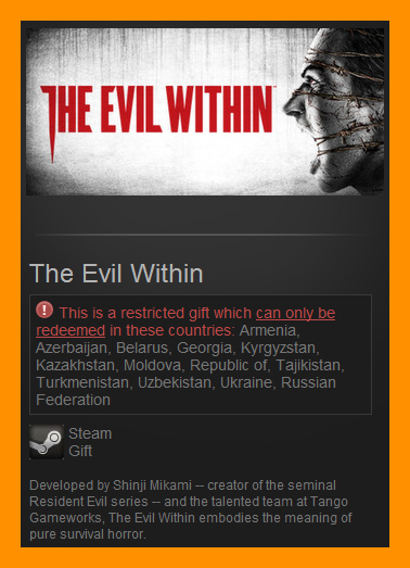 The Evil Within (Steam Gift / RU + CIS)