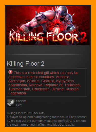 Killing Floor 2 (Steam Gift / RU CIS) Early Access Game