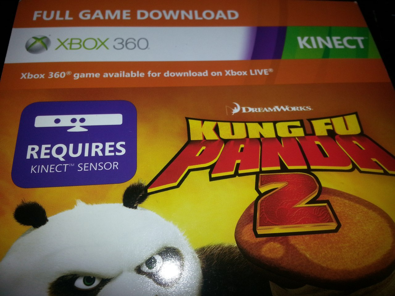 Kung Fu Panda 2 for Xbox 360 (for EU / RU) Scan