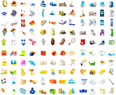 A very large assembly of vector icons