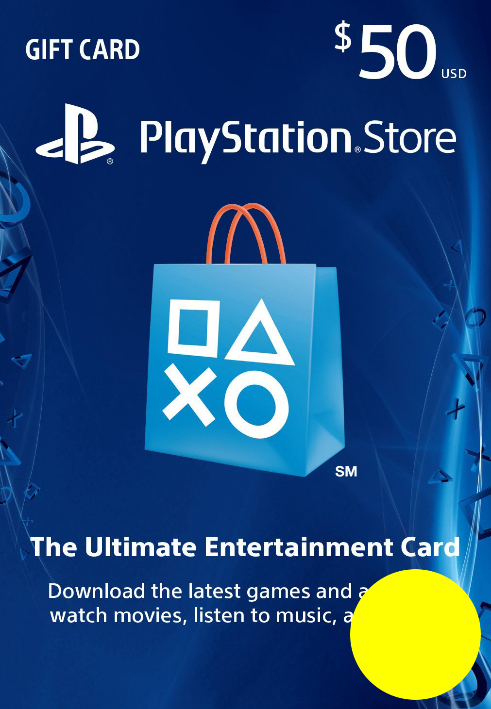 PSN Gift Card Code USA $50 PS4, PS3, PS Vita