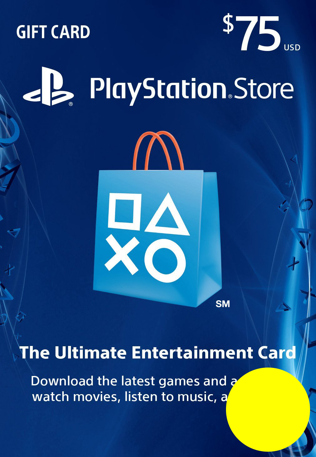 PSN Gift Card Code USA $75 PS4, PS3, PS Vita