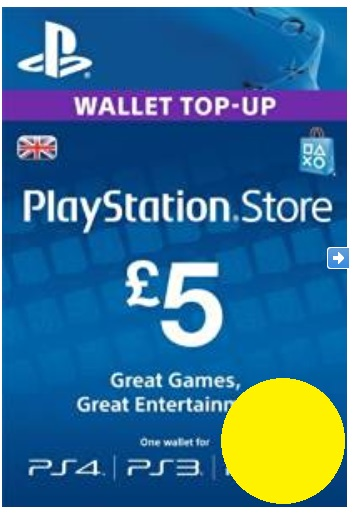 PSN Gift Card Code UK £5 GBP for PS4, PS3, PS Vit