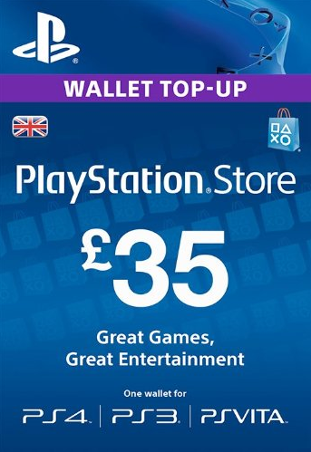 PSN Gift Card Code UK £35 GBP for PS4, PS3, PS Vit
