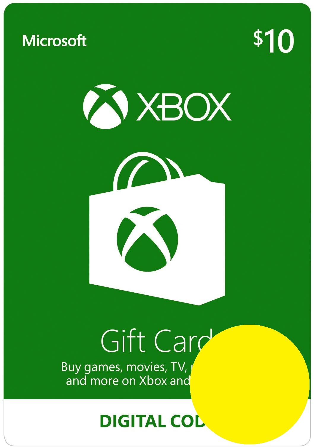 Xbox $ 10 Gift Card - Digital Code USA