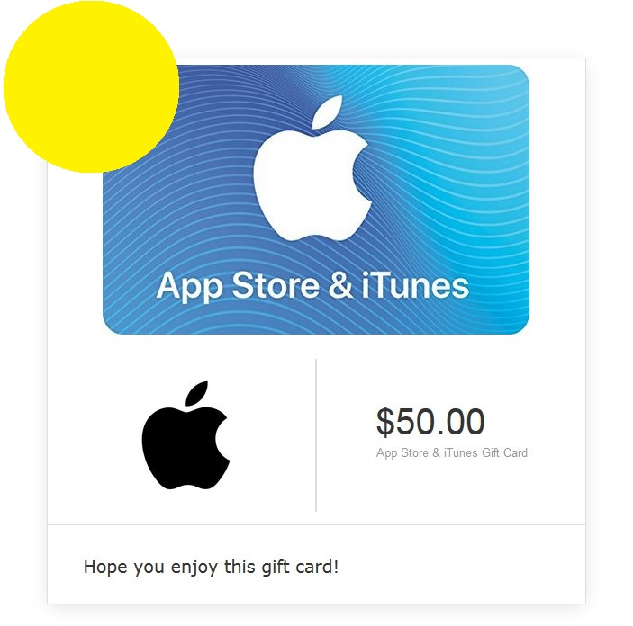 iTunes Gift Card $50 - USA (Digital Code)