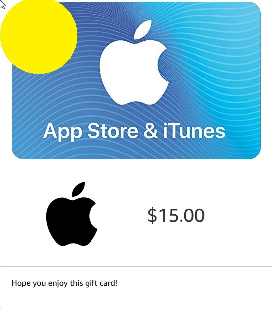 iTunes Gift Card $15 - USA (Digital Code)