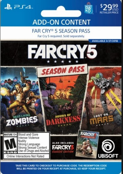 Far Cry 5 Season Pass - PS4 Digital Code USA