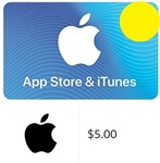 Изображение товара iTunes Gift Card $5 - USA (Digital Code)