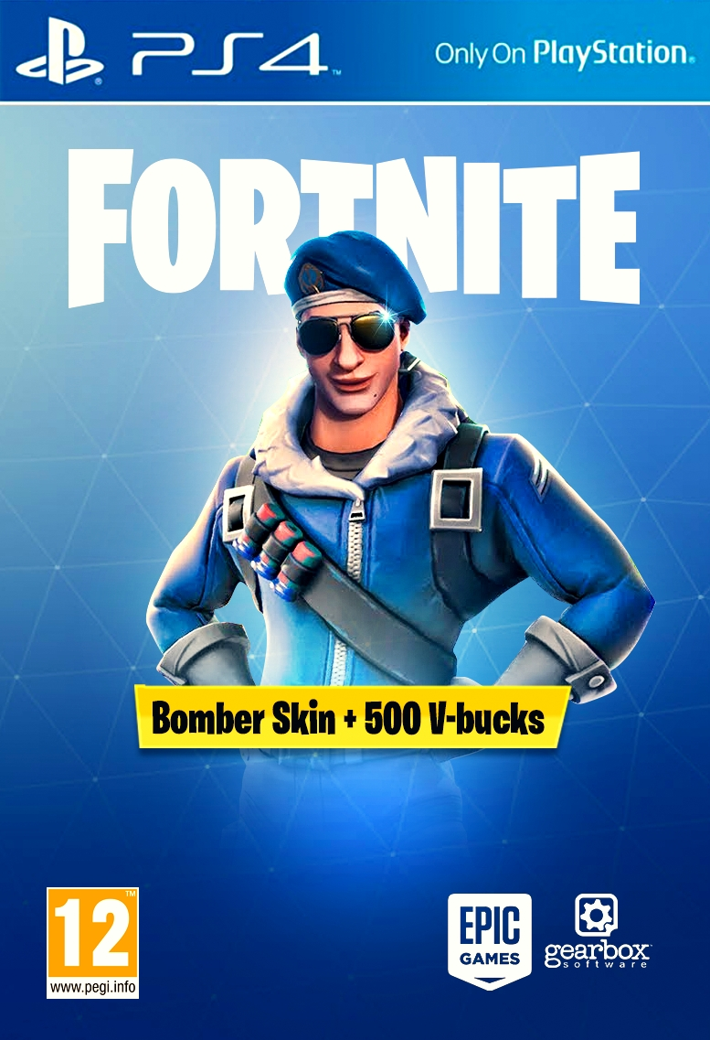 [FORTNITE] - Bomber Skin + 500 PSN PS4 Key EUROPE