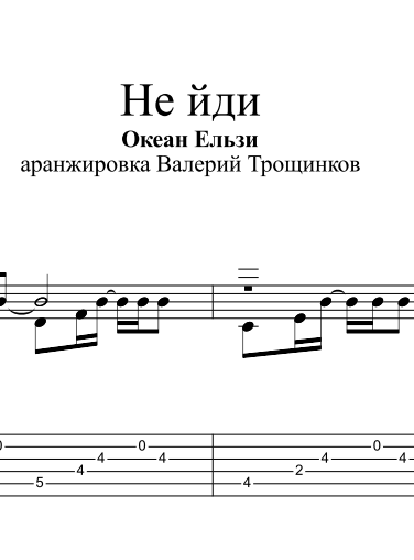 Not ydi - Okean Elzy. Sheet music and tabs for guitar
