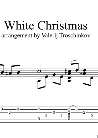 """White Christmas"" - notes and tabs for guitar"