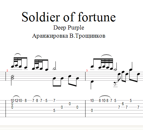 Soldier of Fortune-Deep Purple.Notes & tabs for guitar