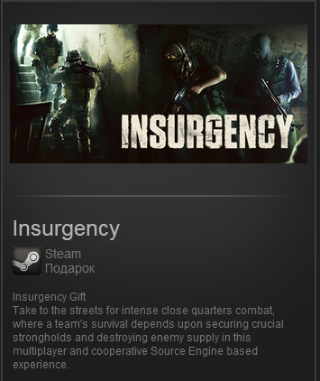 Insurgency (Steam Gift, ROW) + BONUS