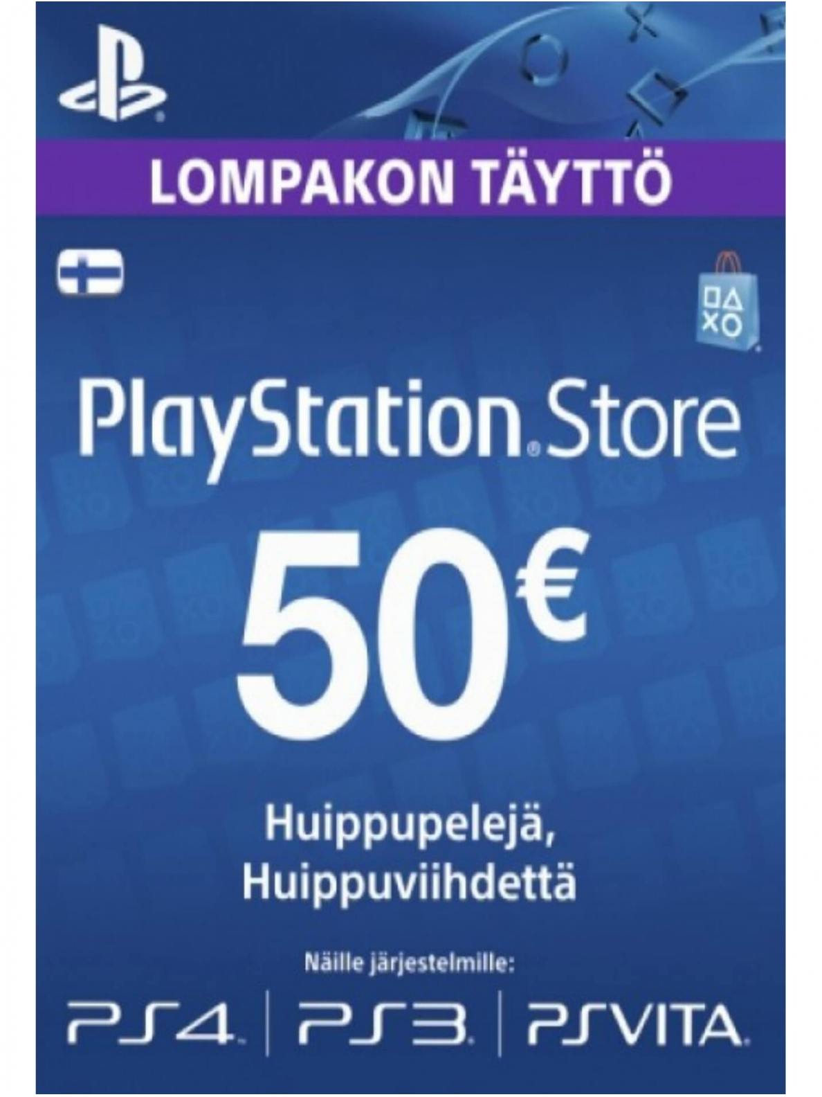 PSN FINLAND CARD €50 EUR for PS4, PS3, PS Vita