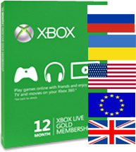 Xbox LIVE: GOLD - 12 months (Worldwide) - [key once]