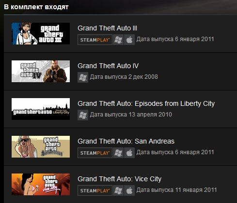 Grand Theft Auto Complete Pack(Steam Gift /Region Free)