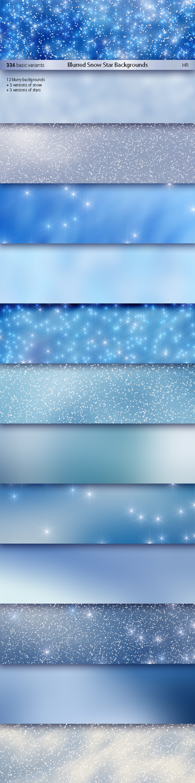 Blurred Snow Star Backgrounds