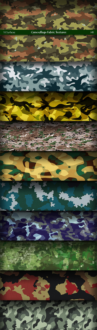 Camouflage Texture Backgrounds