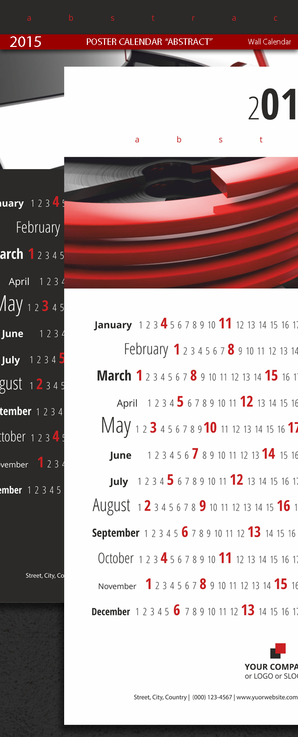 Poster Calendar Abstract Template 2015 (2014)