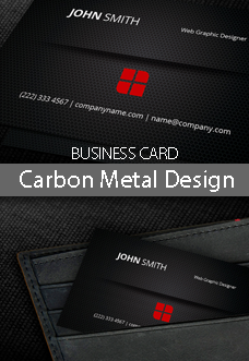 Carbon Metal Design Business Card