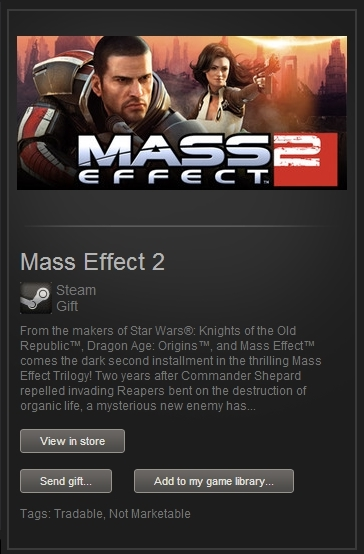 Mass Effect 2 (Steam Gift, Region Free) + ПОДАРОК