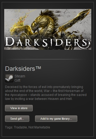 Darksiders (Steam Gift, Region Free) + ПОДАРОК