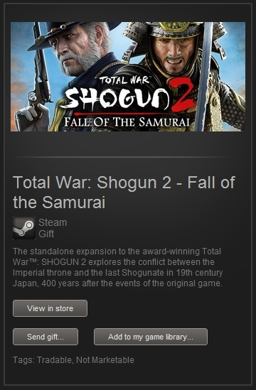 Shogun 2 Fall of the Samurai (Steam, RegFree) + PRESENT