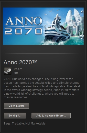 Anno 2070 (Steam Gift, Region Free) + GIFT