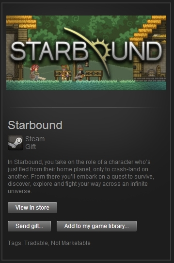 Starbound (Steam Gift, Region Free) + ПОДАРОК