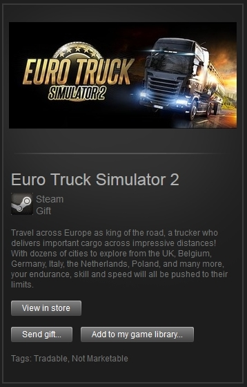 Euro Truck Simulator 2 (Steam Gift, RegFree) + PRESENT