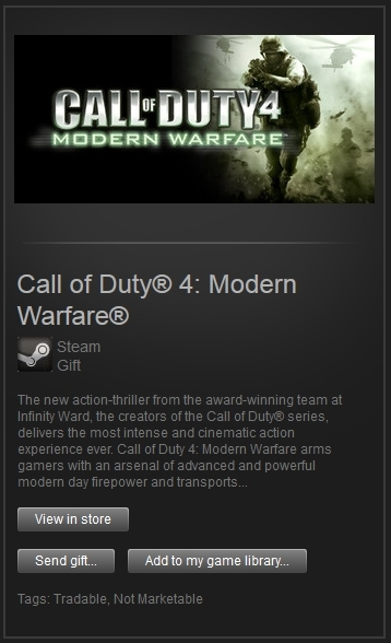 Call of Duty 4: Modern Warfare (Steam, ROW) + ПОДАРОК