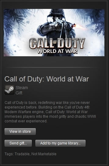 Call of Duty 5 World at War (Steam, Region Free) + PRIZE