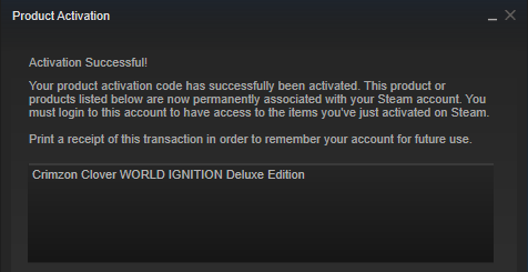 Crimzon Clover WORLD IGNITION Deluxe Edition(Steam Key)