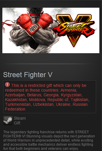 Street Fighter V (Steam Gift / RU&CIS) Pre-Purchase