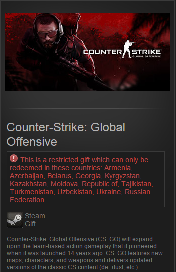 Counter-Strike: Global Offensive (Steam Gift / RU&CIS)