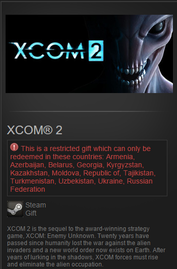 XCOM 2 (Steam Gift / Region RU&CIS) PreOrder