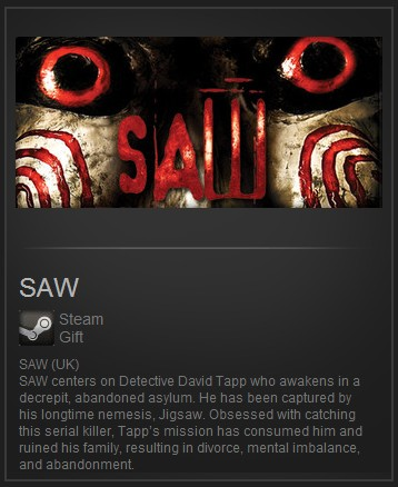 SAW (Steam Gift Region Free) (ROW)