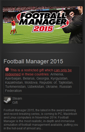 Football Manager 2015 (Steam Gift / RU&CIS / VPN *