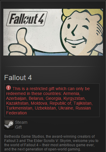 Fallout 4 (Steam Gift / RU&CIS) Pre-Purchase