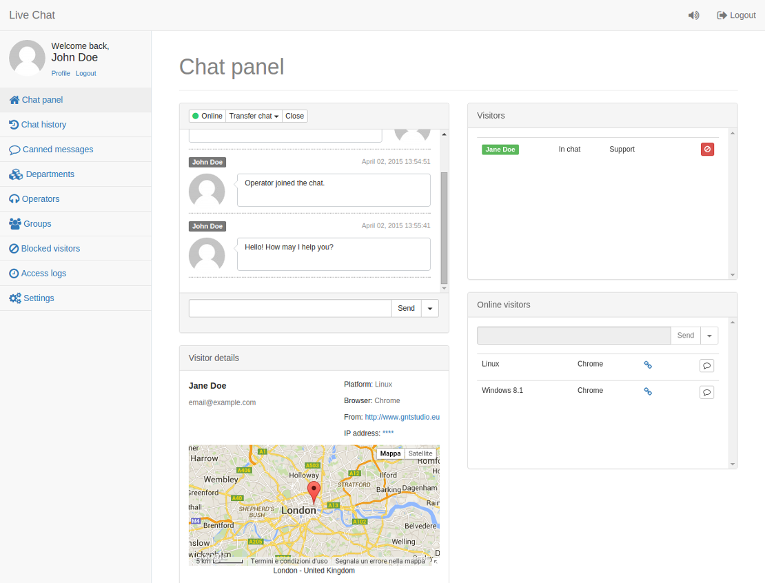 Live Chat PHP CMS