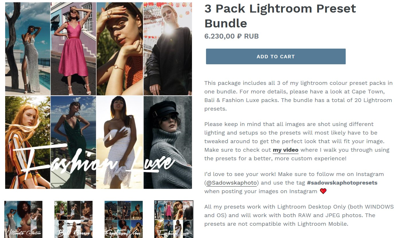 Collection of the best, the professional  Lightroom 2019