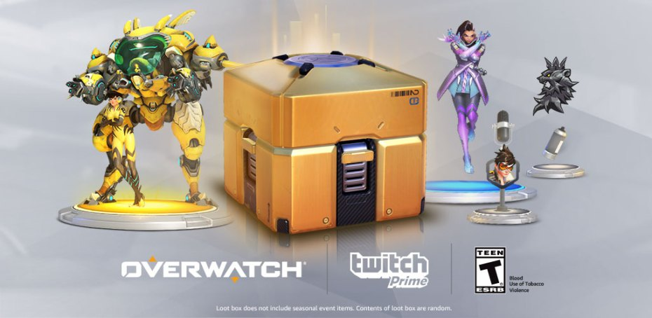 OVERWATCH GOLDEN LOOT BOX Twitch Prime Key Region Free