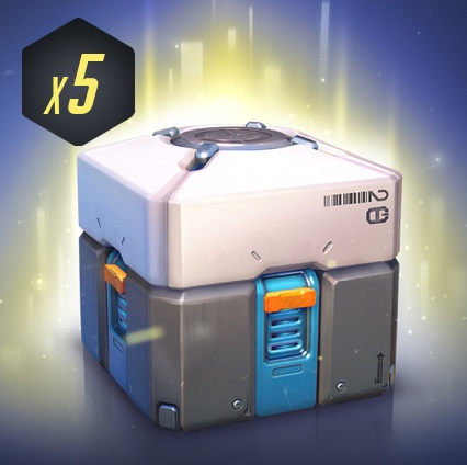 Overwatch Loot Box x5 Prime Key Region Free (October)