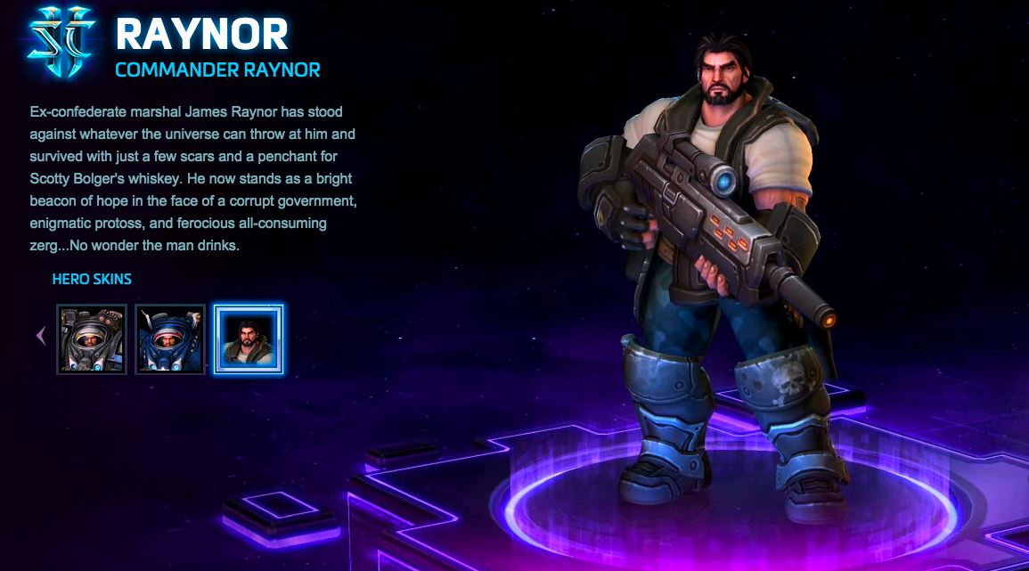 Heroes of the Storm Skin Commander Raynor Region free