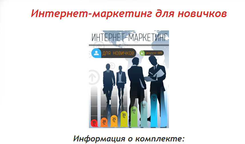"The book ""Internet Marketing for Beginners"""